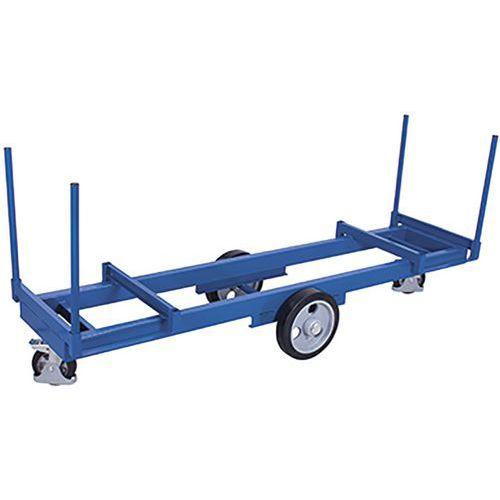 Lange materiaalwagen met 4 rongen 2000 kg