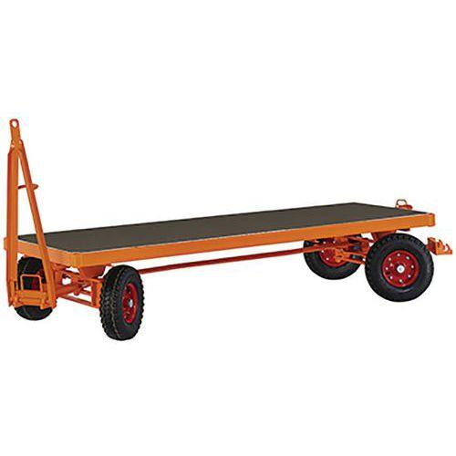 Zwaarlastaanhangwagen met 4 wiel as