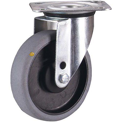 Zwenkwiel ESD 125 x 32 mm grijs