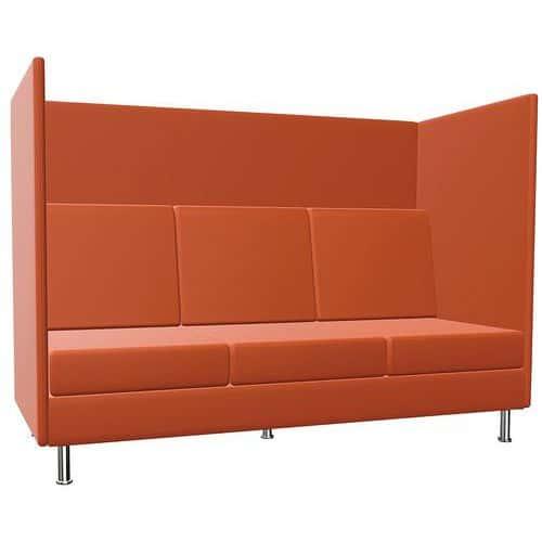 Stoel Coworking 3 zitplaatsen - H 136 cm - Atelier