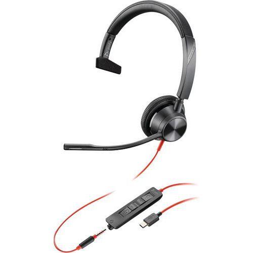 Hoofdtelefoon USB-C jack 1 oortje BW3315